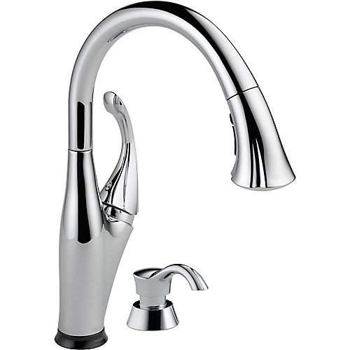 Addison Single Handle Pull-Down Kitchen Faucet Featuring Touch2O Technology