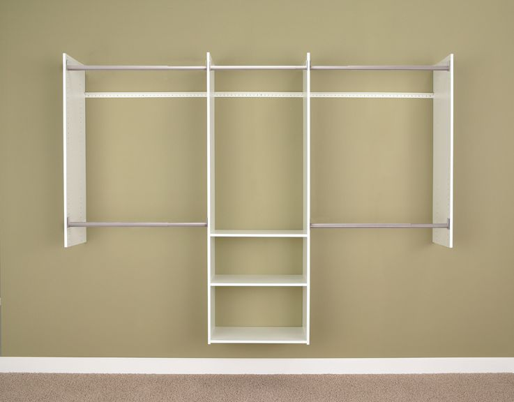 Martha Stewart Living 4 Ft 8 Ft Deluxe Starter Closet White The Home De