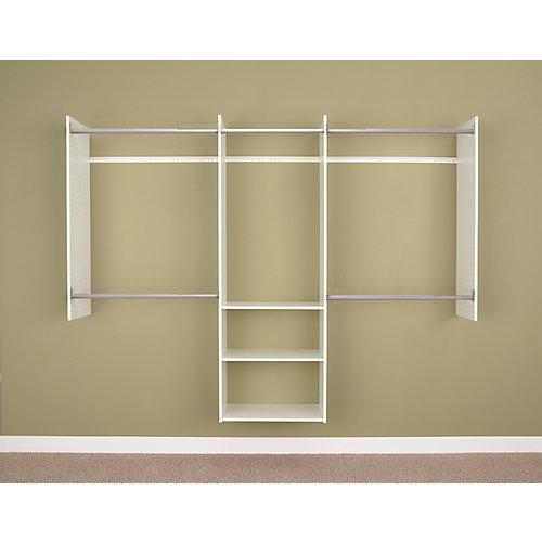 Starter closet in white