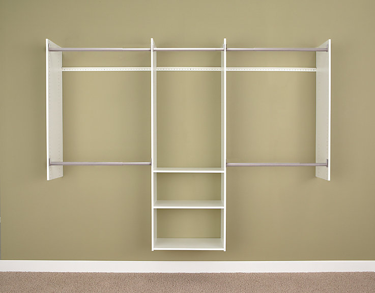 Deluxe 4 Ft To 8 Ft Starter Closet In White