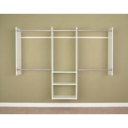 Martha Stewart Living Deluxe 4 ft. to 8 ft. Starter Closet in White