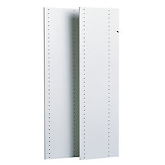 1.22 m panneaux verticaux (paquet de 2) - blanc