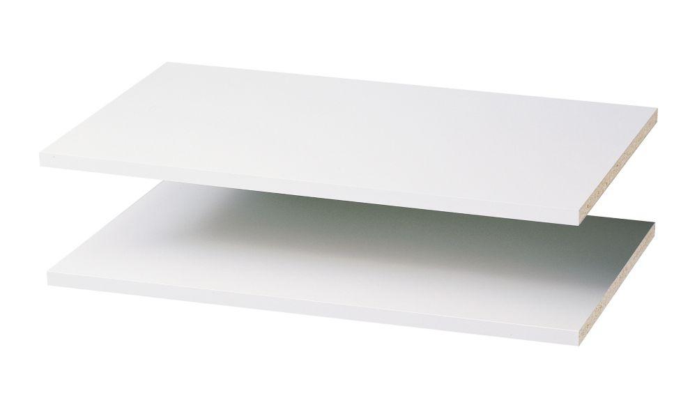 24 Inch Shelves (2 pack) - White