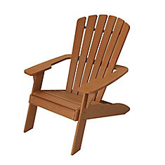 Outdoor Adirondack Chair In Brown