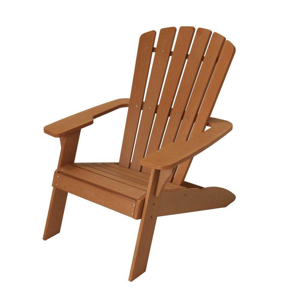 Beautiful Simulated Wood Patio Muskoka Chair