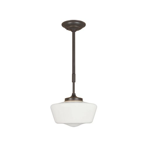Luray Collection 1-Light 34-5/8 in. Hanging Oil-Rubbed Bronze Pendant