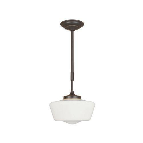 Suspension à 1 lampe au fini bronze huilé de la Collection Luray, 34 5/8 po