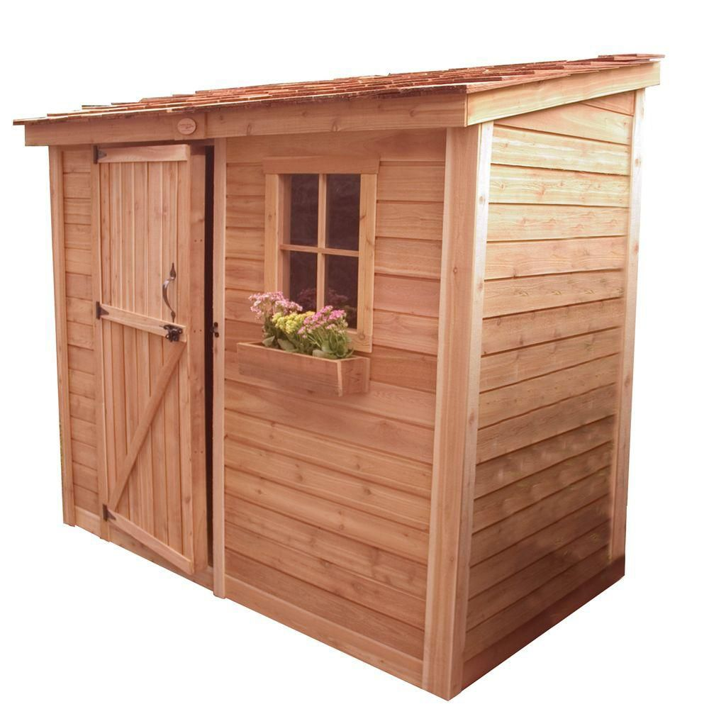Outdoor Living Today 8 ft. x 4 ft. Space Saver Storage Shed with Single Door