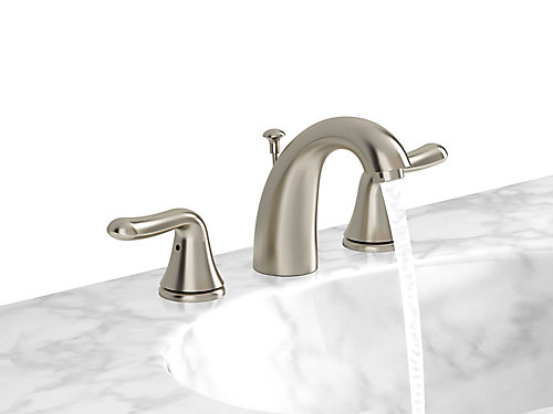 widespread waterfall bathroom pfister pin bronze rustic faucet ashfield