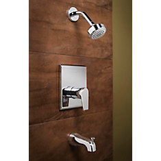 Onyx 1-Spray Wall-Mount Tub  Shower Faucet in Chrome with Showerhead