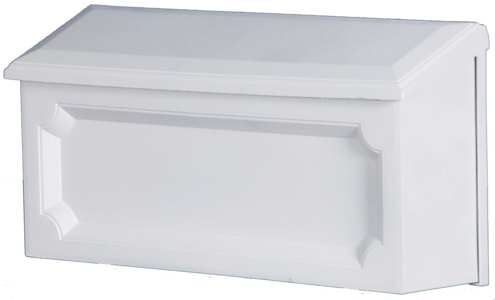 White Windsor Wallmount Mailbox