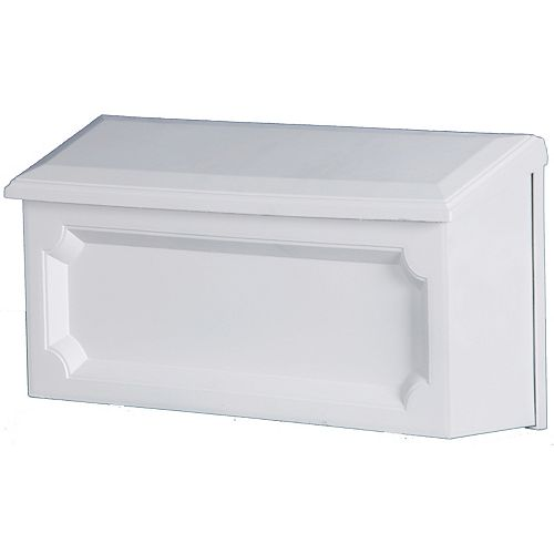 Gibraltar Industries White Windsor Wall-Mount Mailbox
