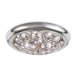 Bel Air Lighting Chrome with Crystal 14 inch Ceiling Fixture