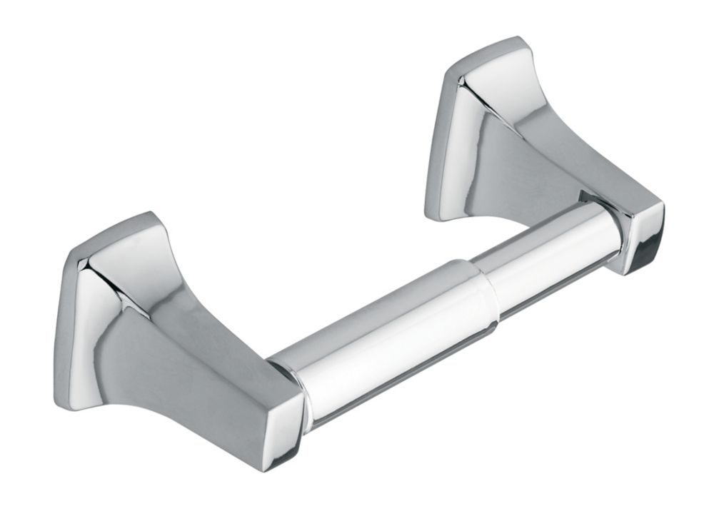 Contemporary Chrome Paper Holder with Chrome Roller