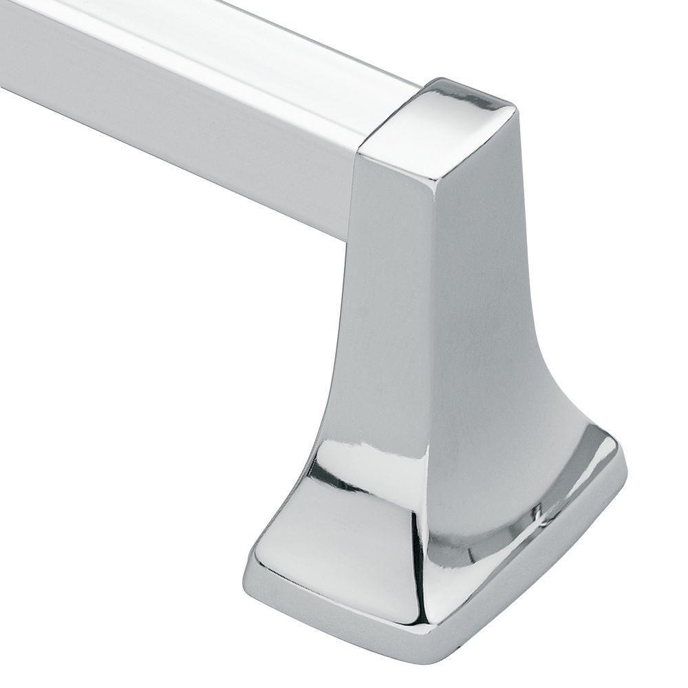 Contemporary Chrome 24 Inch Towel Bar