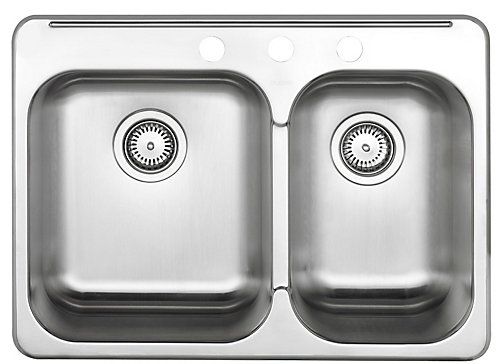 Blanco 1 12 bowl kitchen sink in brushed stainless steel the home 1 12 bowl kitchen sink in brushed stainless steel workwithnaturefo