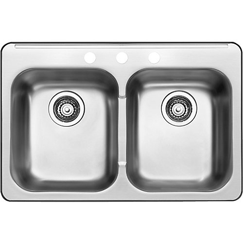 7-inch Stainless Steel Double Kitchen Sink