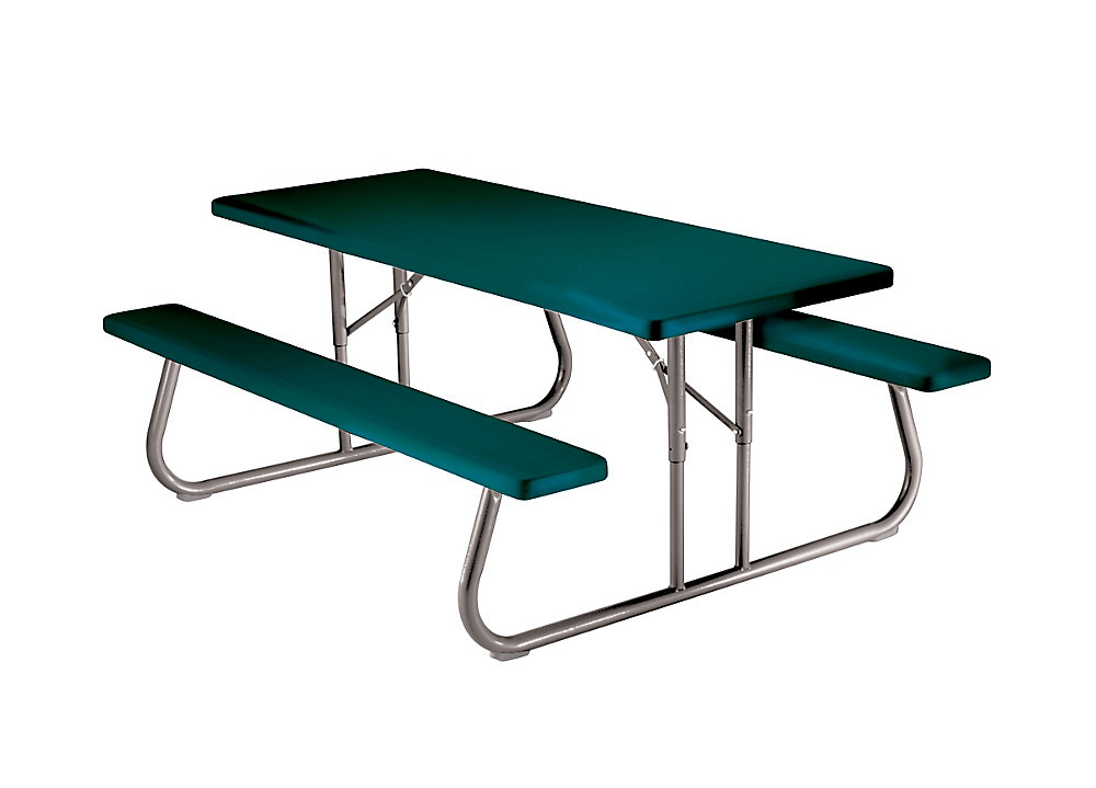 6 ft. Folding Picnic Table in Green (Pallet of 10)