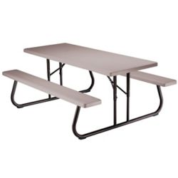 Lifetime 6 ft. Folding Picnic Table in Putty (Pallet of 10)