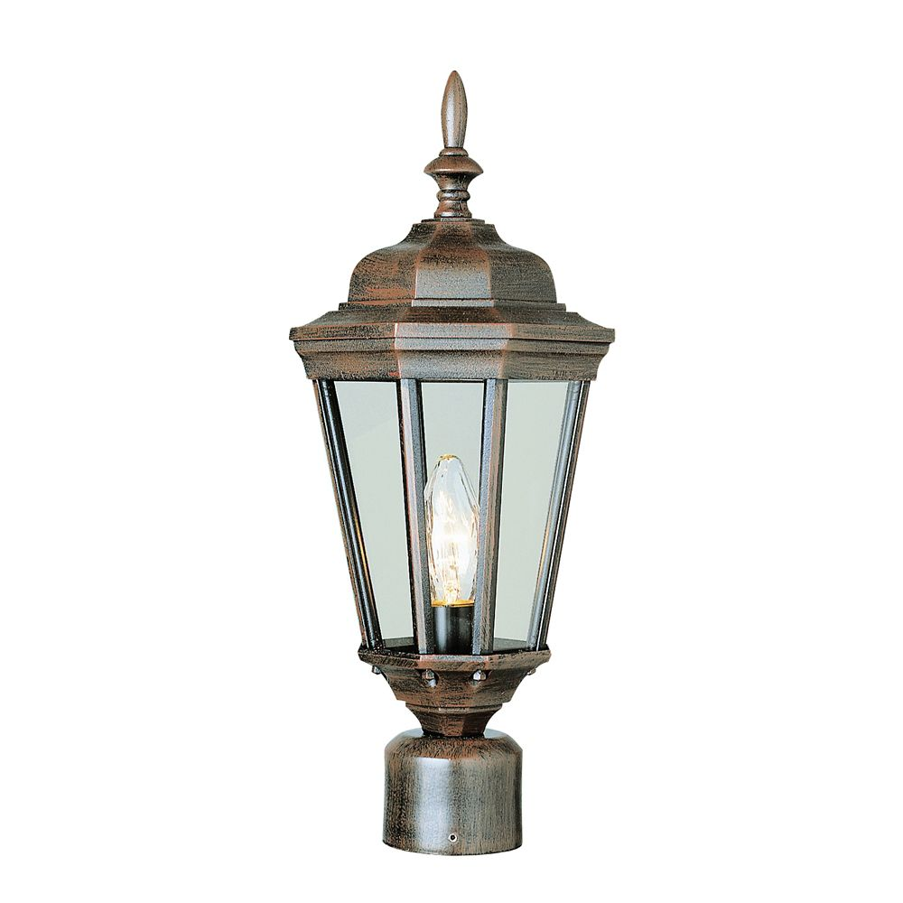 Rust and Beveled Post Top Light