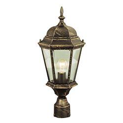 Bel Air Lighting Coppered Black Post Top Light