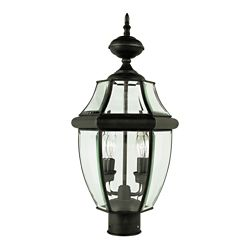 Bel Air Lighting Bronzed Black with Sunken Glass Post Top Light