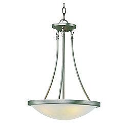 Bel Air Lighting Lampe suspendue verre marbré, nickel, 38,10 cm (15 po)