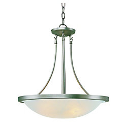 Bel Air Lighting Nickel with Marbled Glass 15 inch Swag Pendant