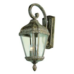 Bel Air Lighting Patina Beveled Frame Wall Light - Small