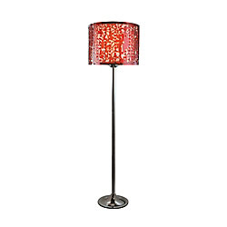 Bel Air Lighting Paisley Acrylic Shade and Bead Floor Lamp - Red Red