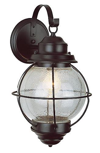 Catalina 1-Light Black Wall Lantern
