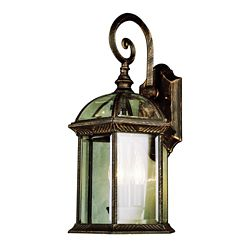 Bel Air Lighting Coppered Black Glass Framed Wall Light - Medium