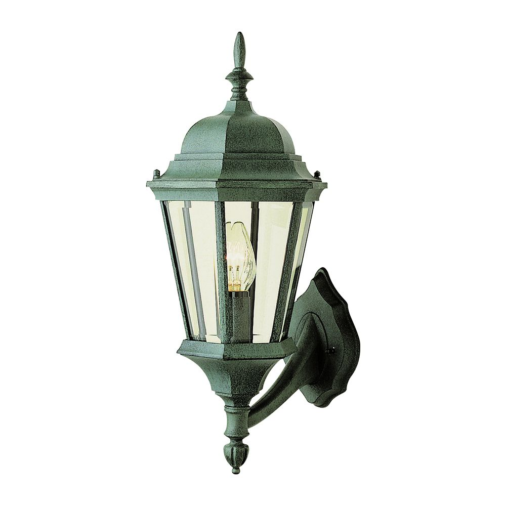 Pine Green Finial Tipped Wall Light