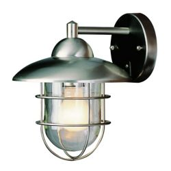 Bel Air Lighting Gull 1-Light Polished Chrome Wall Lantern