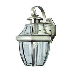 Bel Air Lighting Nickel with Sunken Glass Patio Light