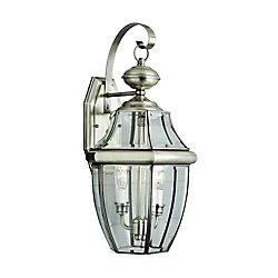 Bel Air Lighting Luminaire de terrasse à verre encastré, nickel, 50,80 cm (20 po)