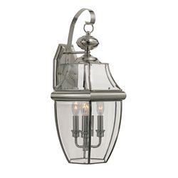 Bel Air Lighting Lanterne murale à verre encastré, nickel