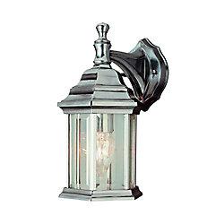 Bel Air Lighting Nickel Tiered Cap 12 inch Patio Light