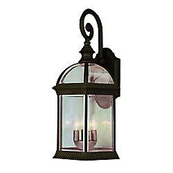 Bel Air Lighting Applique armature et facettes en verre, rouille - grande