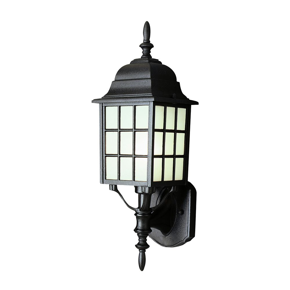 Black Window Framed Wall Light