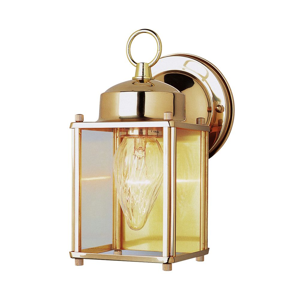 Polished Brass 9 inch Patio Light