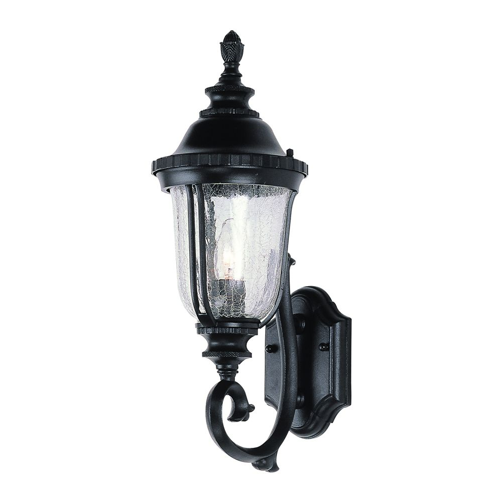 Bel Air Lighting Black with Seeded Glass Coach Light