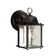 Lampe de terrasse, noire fini cuivré, 20,32 cm (8 po)