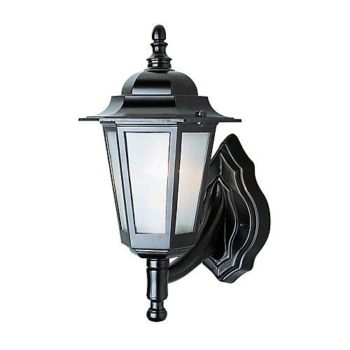 Lanterne de diligence, verre texturé, noire