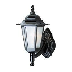 Bel Air Lighting Lanterne de diligence, verre texturé, noire