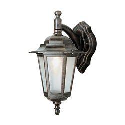 Bel Air Lighting Lanterne murale, verre texturé, rouille
