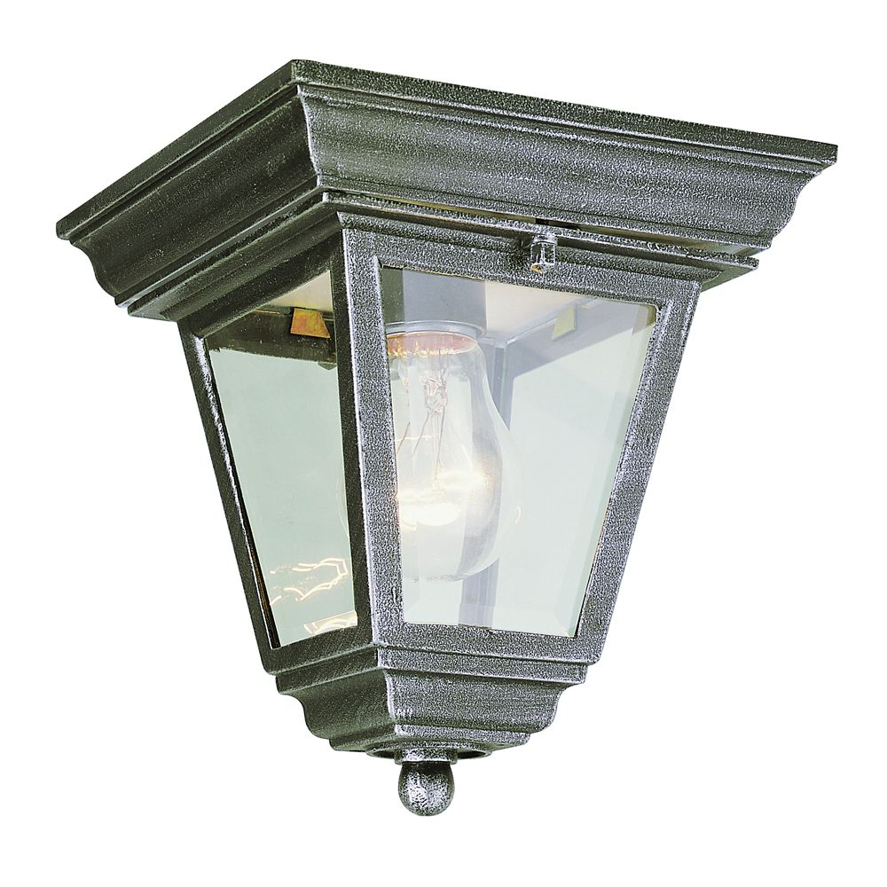 Iron Patina Long Rectangle 7 inch Ceiling Light