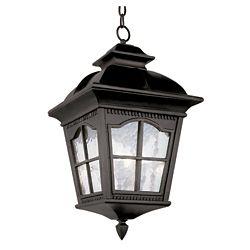 Bel Air Lighting Black Scalloped Window Hanging Light - Medium