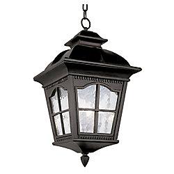 Bel Air Lighting Lampe suspendue à facettes festonnées, noire - grande