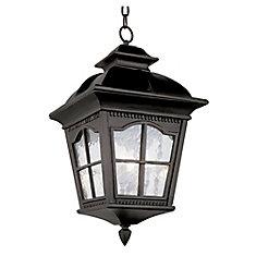Lampe suspendue à facettes festonnées, noire - grande